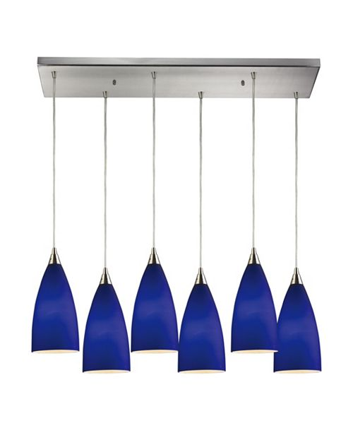 ELK Lighting Vesta 6- Light Pendant in Satin Nickel