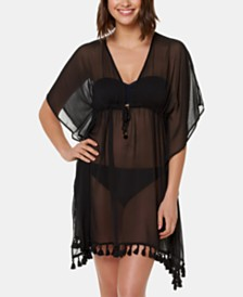 Bleu by Rod Beattie Sheer Caftan Cover-Up