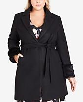 626d735820f City Chic Trendy Plus Size Faux-Fur Fluff Coat