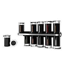 Zevro by Gravity Wall-Mount 12-Canister Magnetic Spice Rack