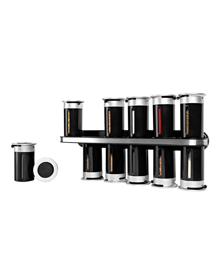 Honey Can Do - Zevro by  Gravity Wall-Mount 12-Canister Magnetic Spice Rack