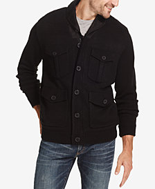 Weatherproof Vintage Men's 4-Pocket Fleece-Lined Sweater