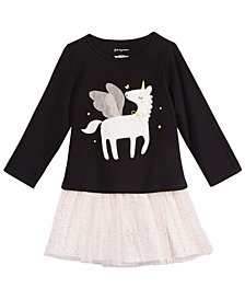 First Impressions Toddler Girls Unicorn Graphic Top & Tulle Skirt Separates, Created for Macy's