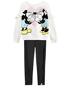 Disney Little Girls 2-Pc. Mickey Minnie Top & Leggings Set