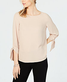 Nine West Tie-Sleeve Top
