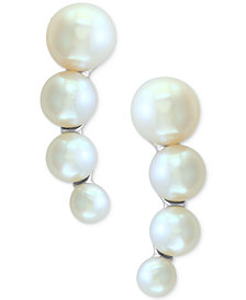 EFFY® Cultured Freshwater Pearl (3mm-5-1/2mm) Ear Climbers in Sterling Silver