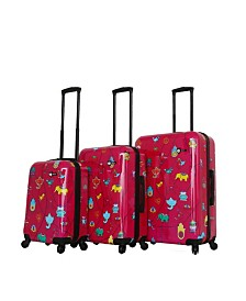 Mia Toro Italy Mistico Hardside Spinner Luggage 3PC Set