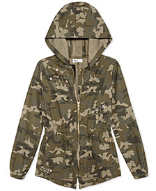Epic Threads Big Girls Hooded Cotton Camouflage Jacket, Created for Macy's