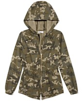 7a095c60ed2 Epic Threads Big Girls Hooded Cotton Camouflage Jacket