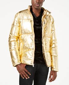 I.N.C. Men's Metallic Puffer Jacket, Created for Macy's