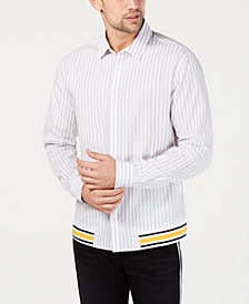 I.N.C. Men's Striped Shirt, Created for Macy's