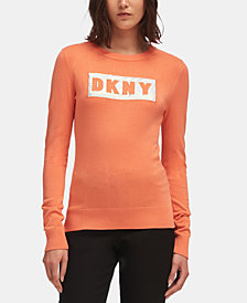 DKNY Block-Letter Logo Sweatshirt, Created for Macy's