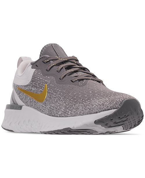new arrival 298ed 51cff ... Nike Womens Odyssey React Metallic Premium Running Sneakers from  Finish ...