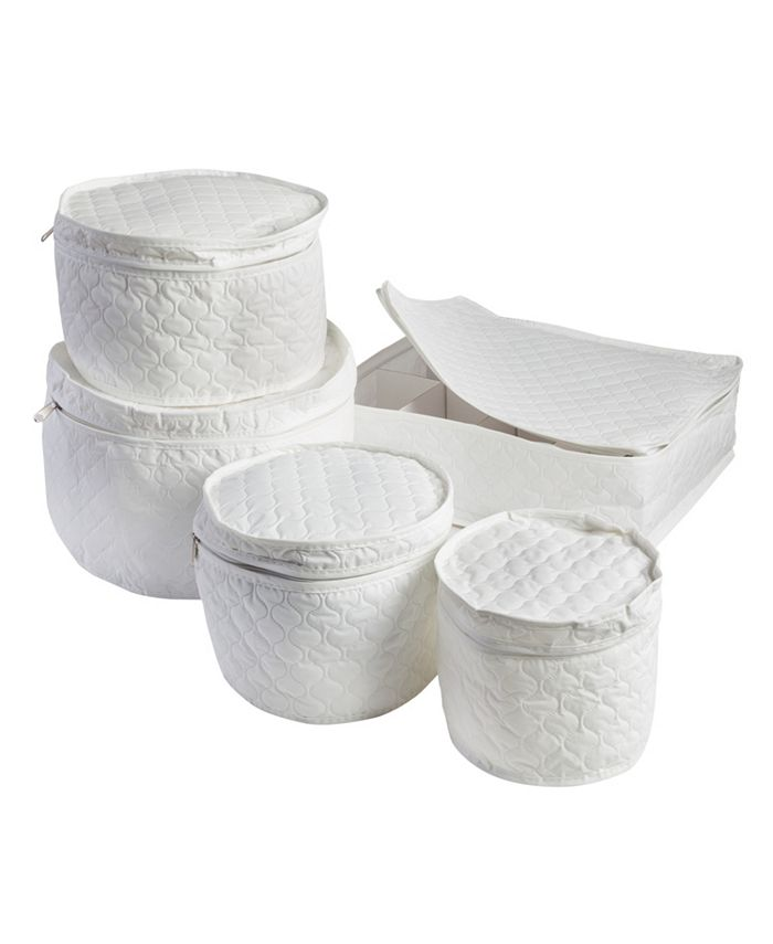 Honey Can Do - 5-Pc. Dinnerware Storage Set