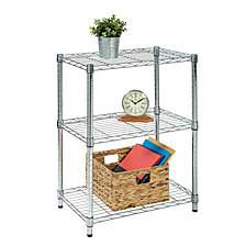 Honey Can Do 3-tier Chrome Shelving Unit