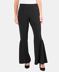 NY Collection Bell-Bottom Pull-On Pants