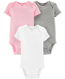 Carter's Little Planet Organics Baby Girls 3-Pk. Cotton Bodysuits
