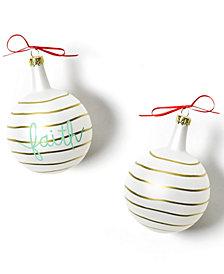 Coton Colors Christmas Spirits Faith Vintage Glass Ornament