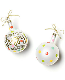 Coton Colors Find A Little Happy In Everything 80Mm Glass Ornament