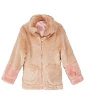 0d06f67cd3 Jessica Simpson Toddler Girls Colorblocked Reversible Faux-Fur Jacket