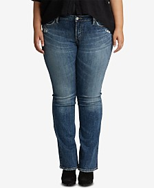Silver Jeans Co. Plus Size Elyse Slim-Boot Jeans