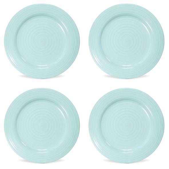Portmeirion Sophie Conran Celadon Luncheon Plate Set of 4