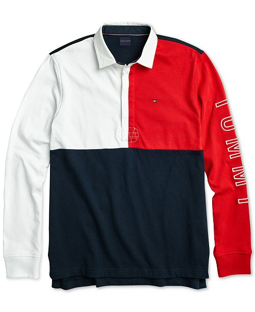 553f557a2 ... Tommy Hilfiger Men's Rugby Polo Shirt with Magnetic Buttons ...