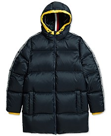Tommy Hilfiger Adaptive  Men's Hooded Alpine Ski Jacket with Magnetic Zipper