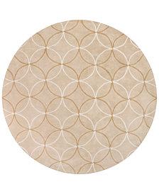 Surya Cosmopolitan COS-8869 Wheat 8' Round Area Rug