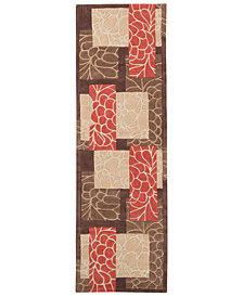"Surya Cosmopolitan COS-8889 Burnt Orange 2'6"" x 8' Runner Area Rug"