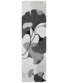 """Surya Cosmopolitan COS-9172 Medium Gray 2'6"""" x 8' Runner Area Rug"""