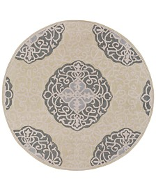CLOSEOUT! Surya  Cosmopolitan COS-9302 Moss 8' Round Area Rug