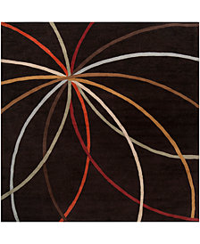 Surya Forum FM-7141 Dark Brown 6' Square Area Rug