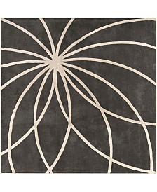 Surya Forum FM-7173 Charcoal 8' Square Area Rug