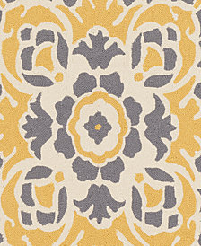 """Surya Rain RAI-1267 Bright Yellow 18"""" Square Swatch"""