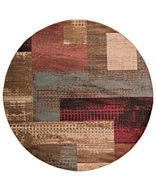 Riley RLY-5004 Dark Red 8' Round Area Rug