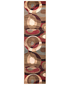 "Surya Riley RLY-5007 Dark Red 3' x 7'2"" Runner Area Rug"