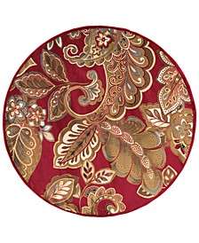 Riley RLY-5020 Dark Red 8' Round Area Rug