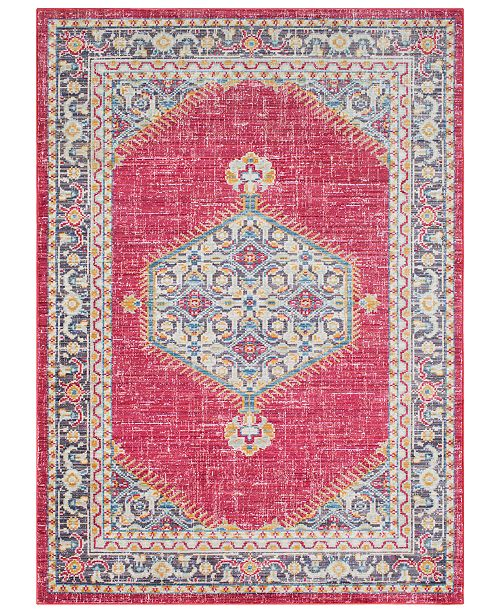 "Surya CLOSEOUT!  Germili GER-2312 Bright Pink 7'10"" x 10'3"" Area Rug"