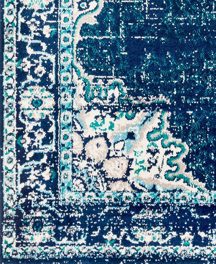 "Abbie & Allie Rugs - Paramount PAR-1100 Dark Blue 18"" Square Swatch"