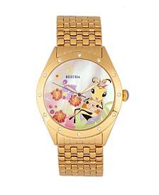 Bertha Quartz Ericka Collection Gold Stainless Steel Watch 38Mm
