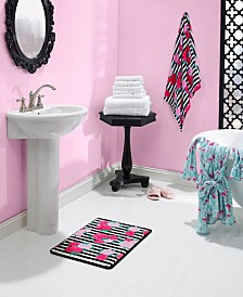 Betsey Johnson Flower Stripe Bath Collection
