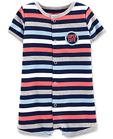 Carter's Baby Boys Striped Super Cute Cotton Romper
