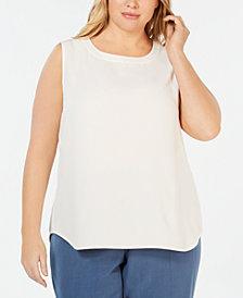 Anne Klein Plus Size Crewneck Shell