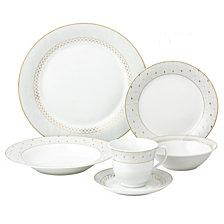 Lorren Home Trends Carlotta-Mix and Match 24-Pc. Dinnerware Set, Service for 4