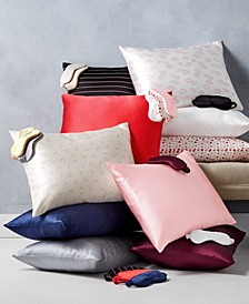 Solid and Printed Silk Pillowcases & Eye Masks Giftable Collection
