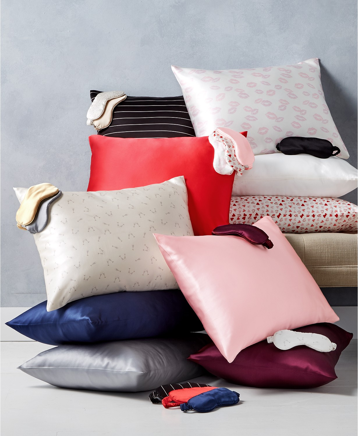 silk pillowcase and eye mask giftable collection from Macy's