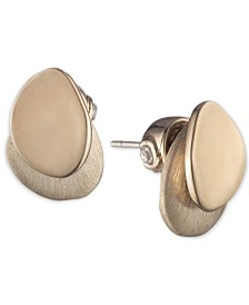 Carolee Gold-Tone Layered Disc Stud Earrings