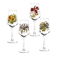 Botanic Garden Wine Glasses, Set of 4