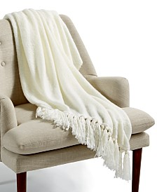 "Lacourte Molly Ivory 50"" x 60"" Throw"